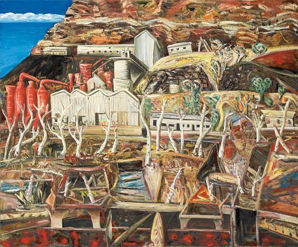 - JAN SENBERGS , JAN SENBERGS Australian B. 1939 WITTENOOM, WESTERN AUSTRALIA Oil on canvas