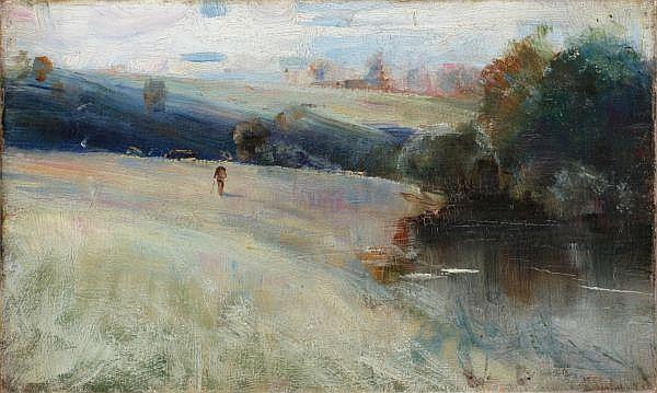CHARLES CONDER , CHARLES CONDER British 1868-1909 AUSTRALIAN LANDSCAPE   Oil on canvas