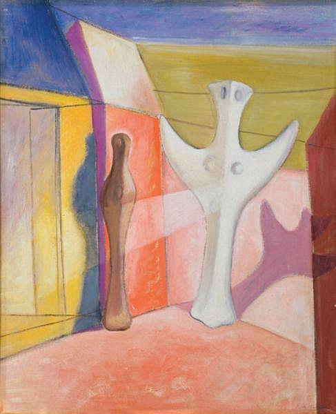 - ROY DE MAISTRE , ROY DE MAISTRE Australian 1894-1968 ANNUNCIATION Oil on panel