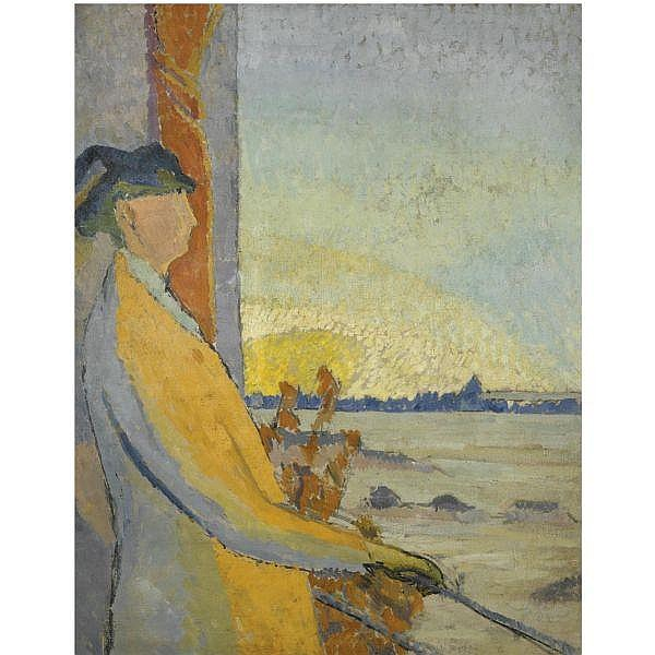 Duncan Grant , 1885-1978 Woman at a Window oil on canvas
