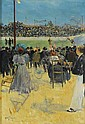 Louis Abel-Truchet , Versailles 1857 - 1918 Auxerre Le vélodrome Louis Abel-Truchet ; The velodrome ; oil on canvas ; signed lower left Huile sur toile   , Louis Abel-Truchet, Click for value