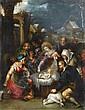 Attribué à Cornelis de Baellieur , Anvers 1607 - 1671 L'adoration des bergers Attributed to Cornelis de Baellieur ; The Adoration of the Shepherds ; oil on copper ; unframed Huile sur cuivre, sans cadre