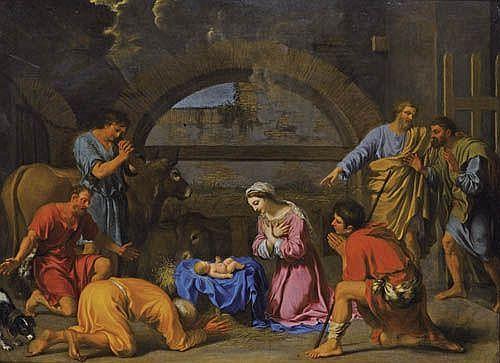 Charles Alphonse Dufresnoy , Paris 1611 - 1668 Villiers-le Bel, Val d'Oise L'Adoration des Bergers Charles Alphonse Dufresnoy ; The Adoration of the Shepherds ; oil on canvas Huile sur toile