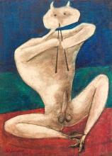 BAHMAN MOHASSES | Untitled (Satyr or Pan)