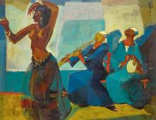 SEIF WANLY | Untitled (Dancer with Takht)