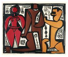 BAHMAN MOHASSES | Untitled (Three Figures)