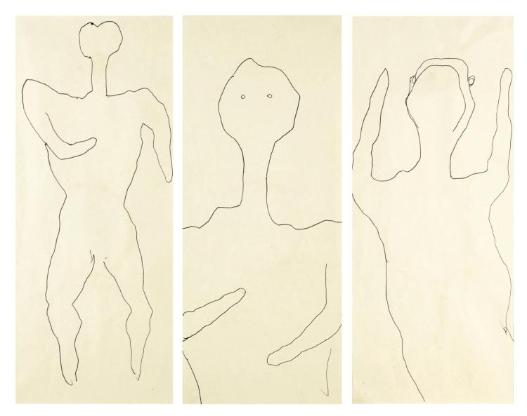 BAHMAN MOHASSES | Untitled (Three Studies)