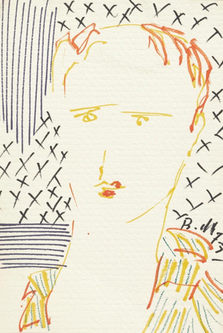 BAHMAN MOHASSES   Untitled (Portrait of Mr. Tahbaz)