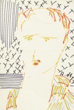 BAHMAN MOHASSES | Untitled (Portrait of Mr. Tahbaz)