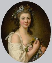 MARIE-VICTOIRE LEMOINE | Portrait of Madame de Genlis(1746-1830)
