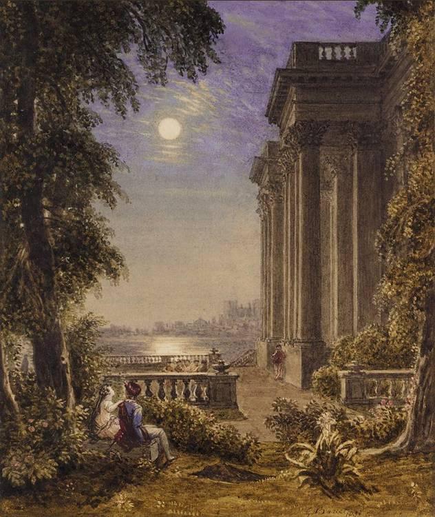 GEORGE BARRET JNR, BRITISH 1767-1842