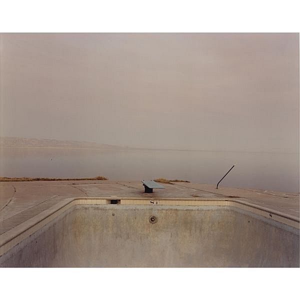 RICHARD MISRACH B. 1949 , 'diving board, salton sea'