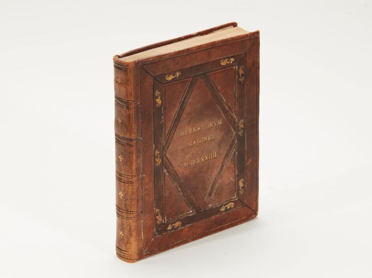 HUTTICH, IMPERATORUM ET CAESARUM VITAE, STRASSBURG, 1534, 4TO, LATER CALF GILT IN PERIOD STYLE