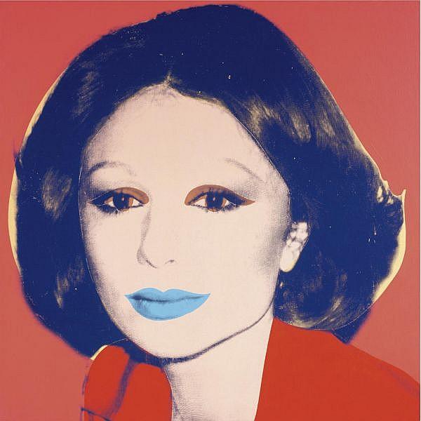 Andy Warhol , Farah Diba Pahlavi (Empress of Iran) acrylic and silkscreen ink on canvas