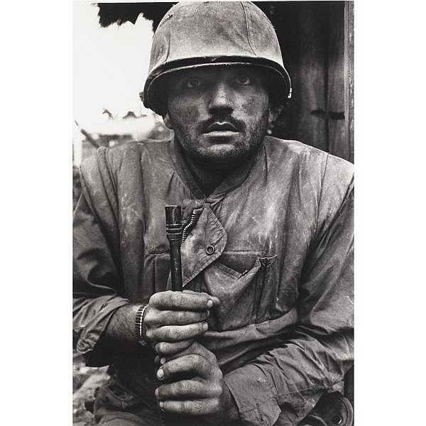 m - Don McCullin (b. 1935) , 'Shell shocked marine', 1968