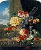 EDWARD LADELL (1821-86) STILL LIFE WITH FRUIT, FLOWERS AND A BIRD'S NEST, Edward Ladell, Click for value