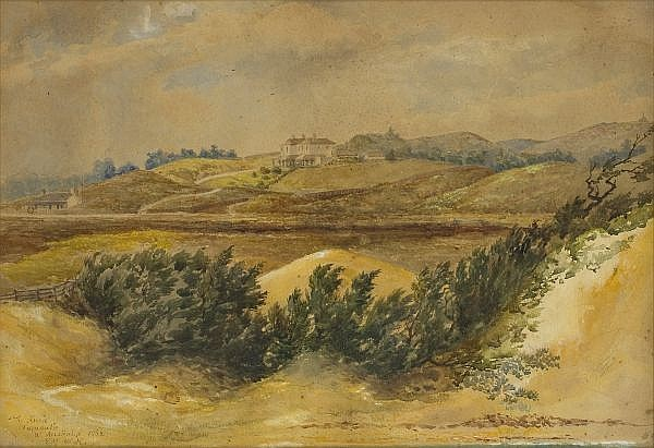- EDMUND HENDERSON , English 1821-1896 THE KNOLE, FREMANTLE, WESTERN AUSTRALIA Watercolour on paper