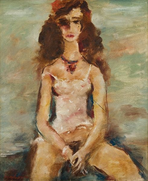 Francis Lymburner , Australian 1916 - 1972 GIRL Oil on canvas