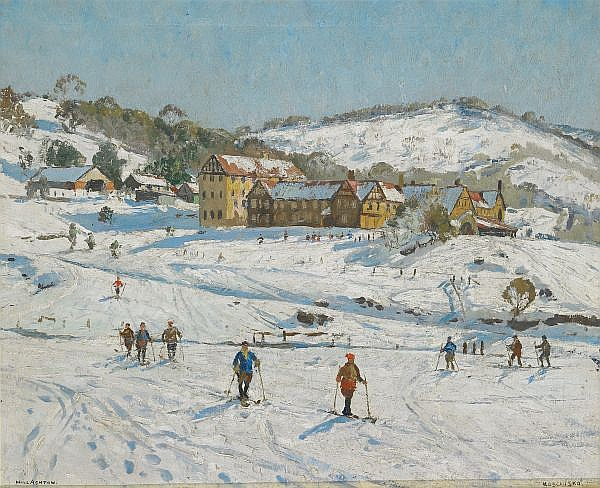 WILL ASHTON , Australian 1881-1963 KOSCIUSKO Oil on canvas