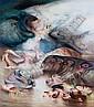 JAMES GLEESON , Australian B. 1915 LANDFALL Oil on canvas   , James Gleeson, Click for value
