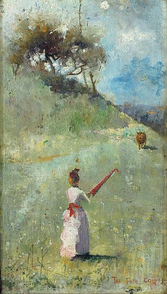 Charles Conder , British 1868-1909 THE FATAL COLORS Oil on wood panel