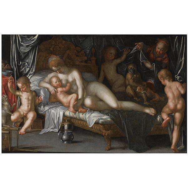 Peter Wtewael , Utrecht 1596 - 1660   Allegory of love   oil on canvas