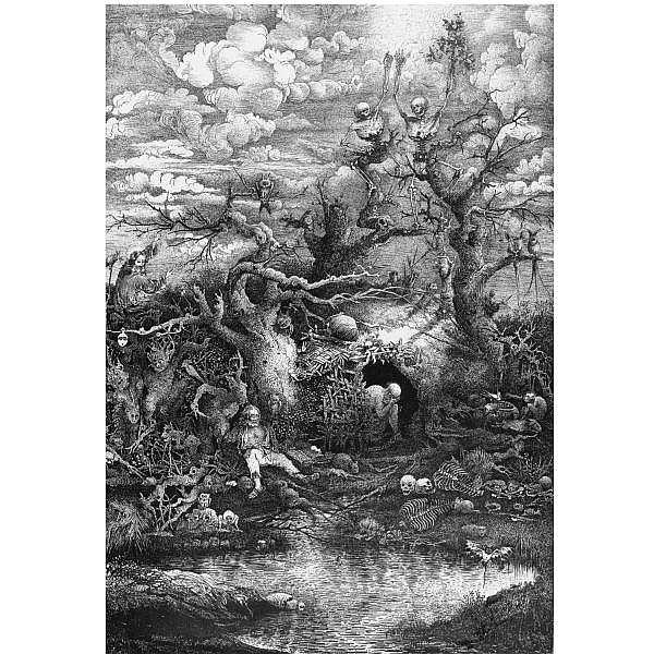 Rodolphe Bresdin , 1822 - 1885 LA COMEDIE DE LA MORT (Van Gelder 84)