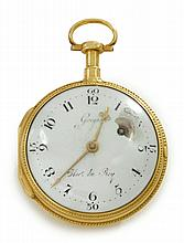 A LOUIS XVI GOLD OPENFACE VERGE WATCH, GREGSON, WATCHMAKER TO THE KING, PARIS, CIRCA 1782 |