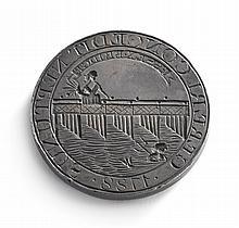 A RARE AMERICAN CORPORATE SILVER SEAL OF THE PROPRIETORS OF ESSEX BRIDGE, BOSTON, 1788, POSSIBLY BY PAUL REVERE JR. |