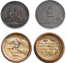 AN AMERICAN SILVER ERIE CANAL MEDAL, DESIGNED BY ARCHIBALD ROBERTSON, STRUCK BY CHARLES CUSHING WRIGHT, 1826 |