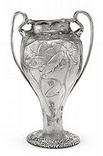 WORLD'S COLUMBIAN EXPOSITION, CHICAGO: AN AMERICAN SILVER JAPANESE STYLE VASE, TIFFANY & CO., NEW YORK, 1893 |