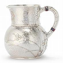 AN AMERICAN SILVER AND MIXED METAL JAPANESE STYLEPITCHER, TIFFANY & CO., NEW YORK, CIRCA 1880 |
