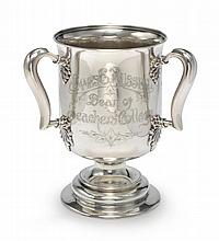 AN AMERICAN SILVER THREE-HANDLED PRESENTATION CUP, TIFFANY & CO., NEW YORK, DATED 1907 |