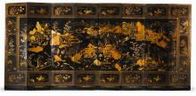 AN EIGHT-FOLD CHINESE EXPORT GILT LACQUER SCREEN<BR>QING DYNASTY, CIRCA 1800 |