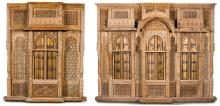 TWO INDIAN HARDWOOD ARCHITECTURAL FACADES<BR />, GUJURAT, LATE 18TH/EARLY 19TH CENTURY |