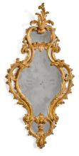 A GEORGE II CARVED GILTWOOD MIRROR, MID-18TH CENTURY |