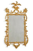 A GEORGE III CARVED GILTWOOD MIRROR, CIRCA 1770 |