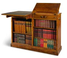 A GEORGE III ROSEWOOD FREESTANDING LIBRARY OPEN DWARF-BOOKCASE, LAST QUARTER 18TH CENTURY |