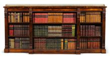 A REGENCY ROSEWOOD OPEN BOOKCASE, CIRCA 1815, IN THE MANNER OF GILLOWS |