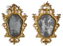A PAIR OF ITALIAN ROCOCO CARVED GILTWOOD MIRRORS, VENICE, CIRCA 1760 |