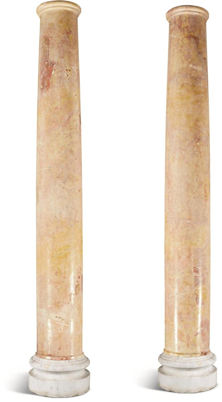 Italy Pair Of Tuscan Order Columns