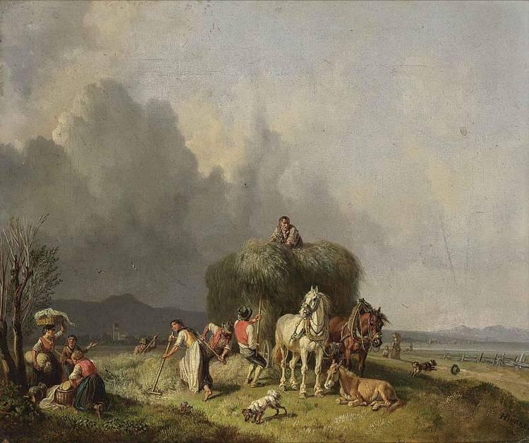 b - HEINRICH BÜRKEL GERMAN, 1802-1869
