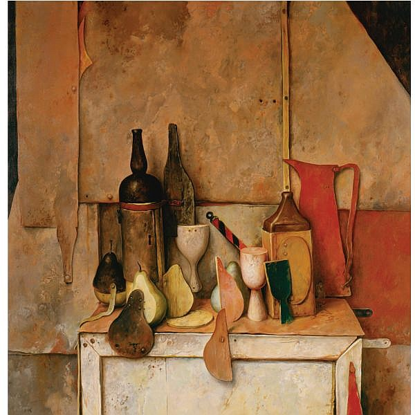 Samuel Bak b. 1933 , Still Life oil on canvas