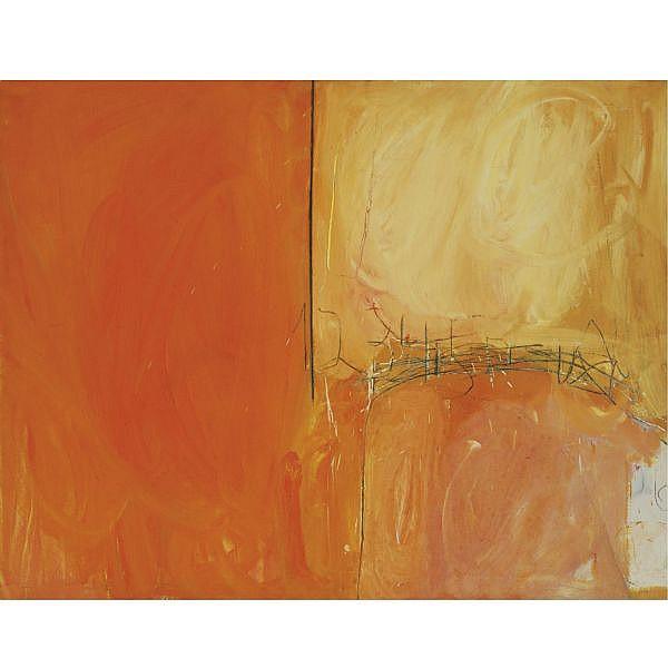 q - Raffi Lavie 1937-2007 , Untitled oil and graphite on canvas