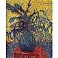 Arthur Segal 1875-1944 , Still Life of Flowers oil on canvas, Arthur Segal, Click for value