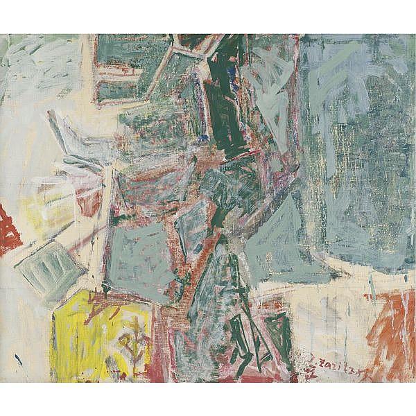 Joseph Zaritsky 1891-1985 , Kibbutz Yechiam oil on canvas