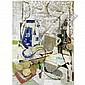 - Fausto Pirandello , 1899-1975   Tavolino da tè (Natura morta) olio su tavola     , Fausto Pirandello, Click for value