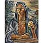 Federico Cantú (1908-1989) , Mona Casandra oil on canvas   , Federico Cantu, Click for value