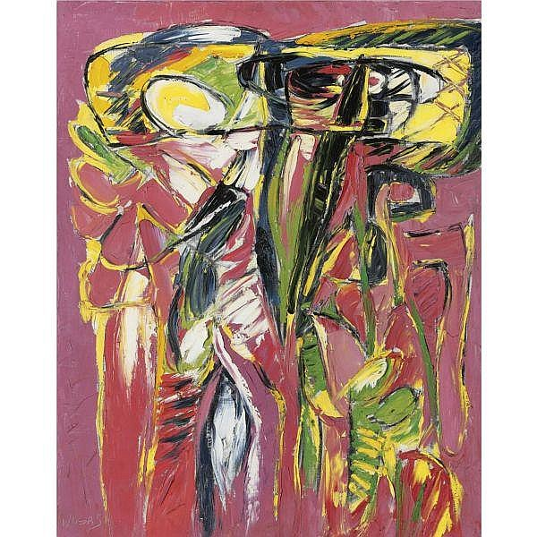 Oswaldo Vigas (b. 1926) , Floreciente (Fleurissante) oil on canvas