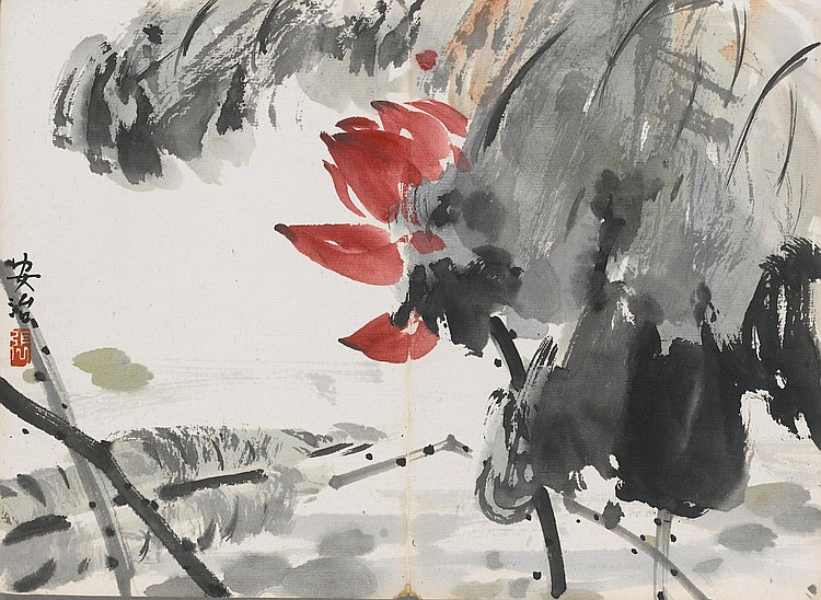 AN ALBUM OF ELEVEN PAINTINGS<BR>BY SUN ZONGWEI, ZHANG QIANYING AND OTHER ARTISTS |